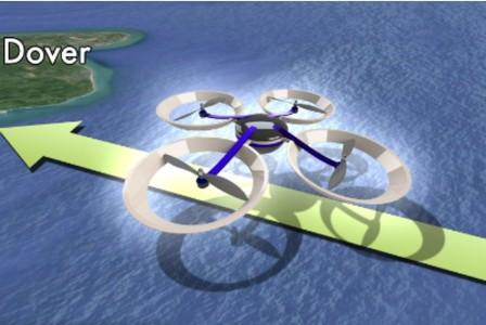 Traverser de la Manche par un drone