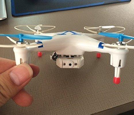 BlueBeach Quadcopter CX30W 4 canaux 3D Gyro UFO Drone avec WIFI Caméra-Compatible avec IOS seulement