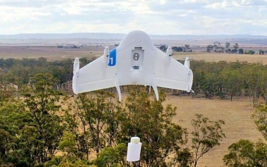 Des drones pour livrer à domicile par Google