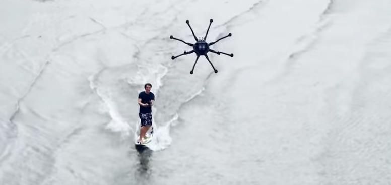 Dronesurfing : Un surfeur utilise un drone !